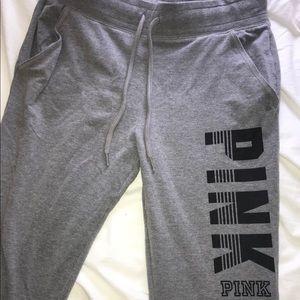 Victoria's Secret PINK gray jogger, medium